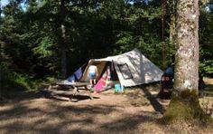 Frankrijk dordogne   Lemialaret. Plaatsen met eigen picknicktafel. Timmerdorp en huttenbouwers, voor als de jongens wat groter zijn.