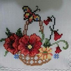 Etaminler Cross Stitch Fruit, Cross Stitch Kitchen, Cross Stitch Heart, Cross Stitch Borders, Cross Stitch Flowers, Cross Stitch Designs, Cross Stitch Patterns, Crewel Embroidery, Cross Stitch Embroidery