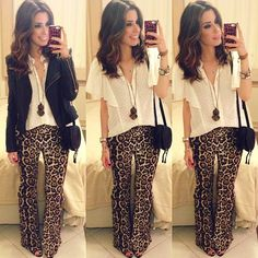 .@garotasestupidas   De hoje!   Calça, blusa e colar @jusilveiramoda + jaqueta @BO.BÔ bourgeois.bohême + bolsa C...   Webstagram - the best Instagram viewer