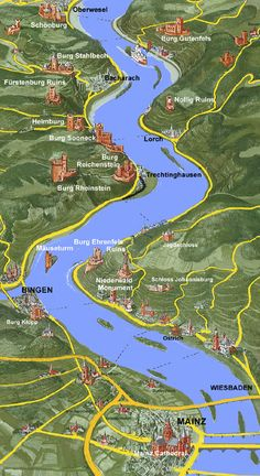 Rhine River Cruise Map See Where You Will Be Sailing On Your Next - Rhine valley germany map