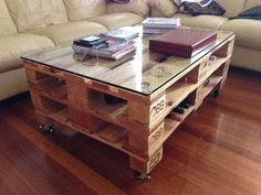 Pallet coffee table - DIY