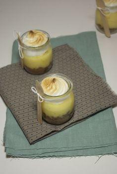 tarte citron meringuée food in a jar