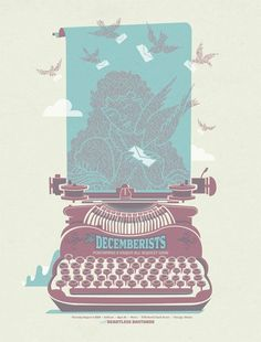 The Decemberists - gig poster