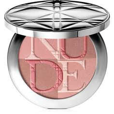 Dior Nude Shimmer Powder found on Polyvore featuring beauty products, makeup, face makeup, face powder, beauty, blush, cosmetics, christian dior and shimmer face powder