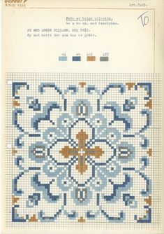 Broderi: Gunnar Pedersen AS Cross Stitch Freebies, Cross Stitch Charts, Cross Stitch Patterns, Christmas Cross, Bead Weaving, Little Gifts, Diy And Crafts, Crafty, Embroidery