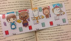 Magnetic Bookmarks Tale as Old as Time by HappyHelloCo on Etsy