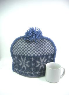Wool tea cozy Upcycled teapot cosy Eco by HereAtSmallGoods on Etsy,