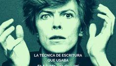 La técnica que usaba Bowie para escribir sus canciones