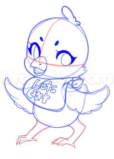 how to draw chica from five nights at freddys step 13