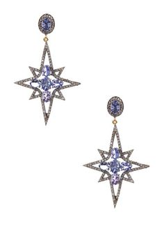 Starburst Blue Tanzanite Diamond Earrings - 2.45 ctw by Forever Creations USA Inc. on @HauteLook