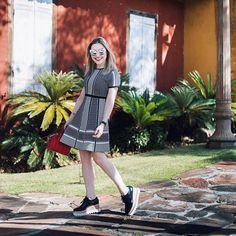 P&b pro almoço de domingo ☺️ Vestido Zara e sapato Stella McCartney #ootd #fashion