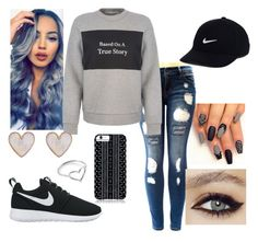 """""""Untitled #64"""" by aalihernandez on Polyvore featuring Être Cécile, Savannah Hayes, New Look, Jordan Askill and NIKE"""