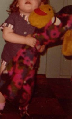 I'm looking for a Sears wild multicolor flower giraffe, or maybe a donkey that my sister used to have, possibly a Dollcraft or Jeebee.