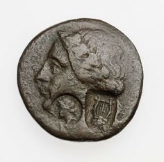 Coin of Kingdom of Bithynia with head of Apollo, struck under Prousias II. Greek, Hellenistic Period, 180-149 B.C.