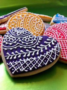 Henna cookies decorated by me! More pics on www.facebook.com/halifaxhenna #cookies #henna #mehendi #kids #fun