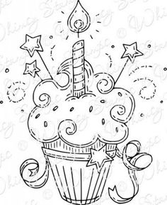 Whimsy Stamps - Rubber Stamps, Clear Stamps, and Creative Birthday Cards, Handmade Birthday Cards, Whimsy Stamps, Digi Stamps, Cat Coloring Page, Adult Coloring Pages, Doodle Drawings, Doodle Art, Bullet Journal Ideas Pages