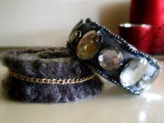 Knitted Bracelets KB 30 WINTER MOOD Set of 2 by Vladilenashandmade, $20.00