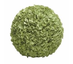 Spread greenery in your indoor with this hydrangea ball that is crafted of plastic and has a green hue. Add it to any table, counter in your home and it is sure to look stylish. Apart from being an attractive home decor, it can also be used to decorate Christmas trees.