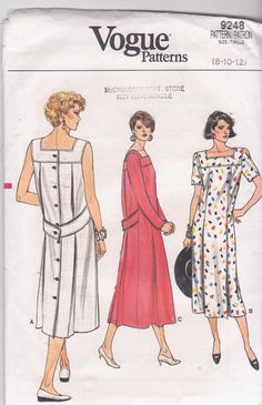 Vintage 1980s loose fitting straight dress by beththebooklady, $7.99