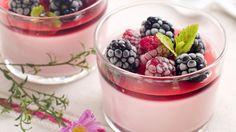 Панна Котта с ягодным желе