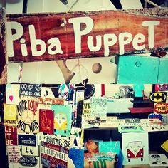 placas em madeira piba puppet