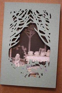 die-cut card