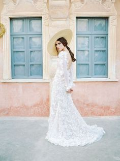 perfect summer wedding inspiration with this stunning long white wedding dress with long sleeves and applications and a straw hat wedding gowns Russian Swan Princess Bridal Inspiration Making A Wedding Dress, V Neck Wedding Dress, White Wedding Dresses, Boho Wedding Dress, Wedding Gowns, Wedding Attire, Boho Bride, Wedding Hair, Wedding Venues