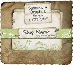 Etsy Shop Banner - Natural Sage set - banners, profile picture/avatar, reserved & special order