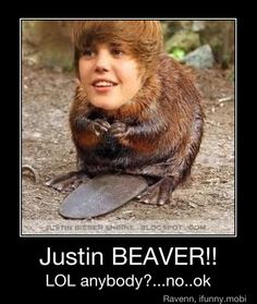 Casen calls him Justin Beaver and he's not playing around. I think it's too cute to correct.  hahahaha