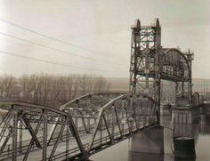 The old bridge in Pekin, Ill. We used to hold our breath going over it, in case we were plunged in the river, and from the sounds of it, that seemed likely. Great Pictures, Old Pictures, Pekin Illinois, Central Illinois, Photos 2016, Local History, Family History, Green Valley, Tower Bridge