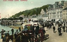 Albert Place, Rothesay in the 1900s.