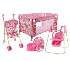 Baby Doll Furniture and Accessories | Graco Total Nursery Doll Furniture Playset w/ Accessories — QVC.com