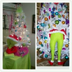 Our grinch Christmas tree and our inspiration