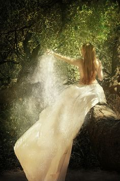 Faerie Dust by Sarah Allegra, featuring model Katie Johnson.
