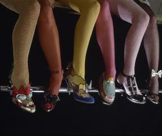 A selection of Thea Cadabra's pop-inspired fantasy footwear from the late 70s. Photograph courtesy of Thea Cadabra