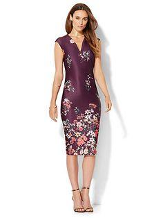 7th Avenue Design Studio Floral Sheath Dress  - New York & Company