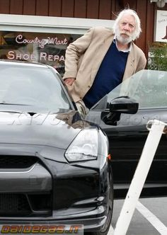 Donald Sutherland in a Nissan Skyline GTR-35