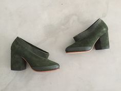 bruna pump, dark green | A Détacher