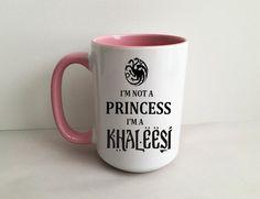 Game of Thrones I'm Not A Princess I'm A Khaleesi Pink 15 Ounce Coffee/Tea mug