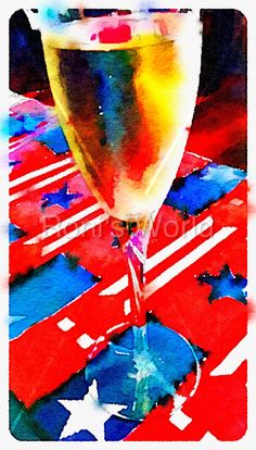 Cheers America -  More details, download or get the print at: http://tonydurso.com/roni-art/