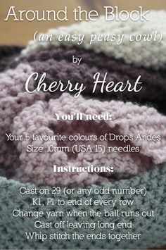 Cherry Heart: Blog: Around the Block