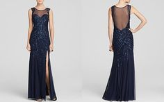 Sean Collection Gown - Illusion Neck Embellished