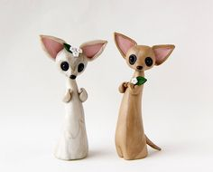chihuahua porcelana fria fimo