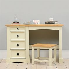 Corona Painted Dressing Table and Stool Set including free delivery (1037.005)   Pine Solutions - AS-6106M-C & AS-6156M-C
