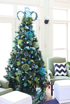 Christmas Tree Blue Lime