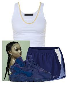 """Ima Young Prodigy"" by aniahrhichkhidd ❤ liked on Polyvore featuring Tusnelda Bloch, NIKE and Fremada"