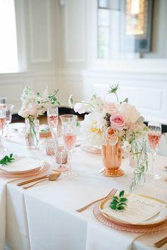 #floral_wedding centerpiece idea Chicago Wedding in Rose-Gold