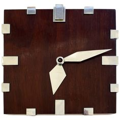 Rare Modernist 1930s Wall Clock 18 Day Movement   From a unique collection of antique and modern clocks at https://www.1stdibs.com/furniture/decorative-objects/clocks/