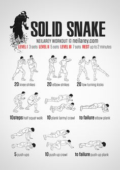 Solid Snake Workout...does this mean Otacon would be my workout buddy? Please keep Raiden far, far away.