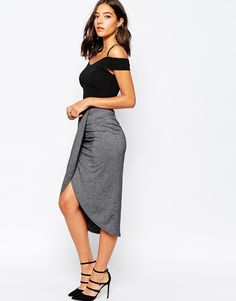 Warehouse Wrap Midi Skirt